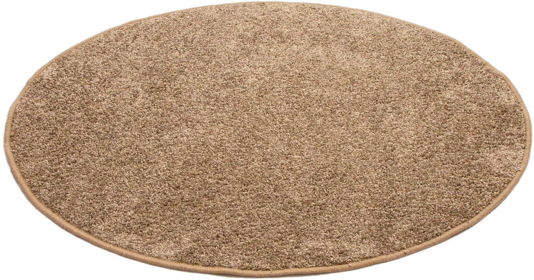Teppich Shaggy uni Andiamo rund Höhe 15 mm maschinell getuftet
