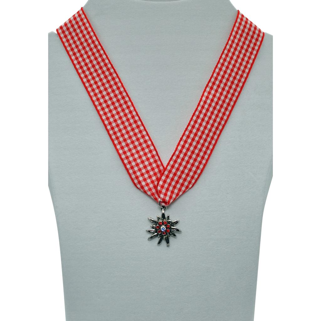 J.Jayz Kette mit Anhänger »Edelweiß, Trachten-Accessoire«, mit Swarovski-Kristallen