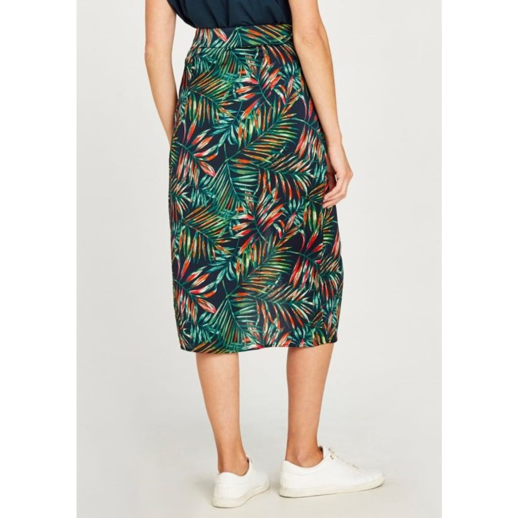 Apricot Wickelrock »Tropical Leaves Crepe Wrap Skirt«, mit tollem Bindeband