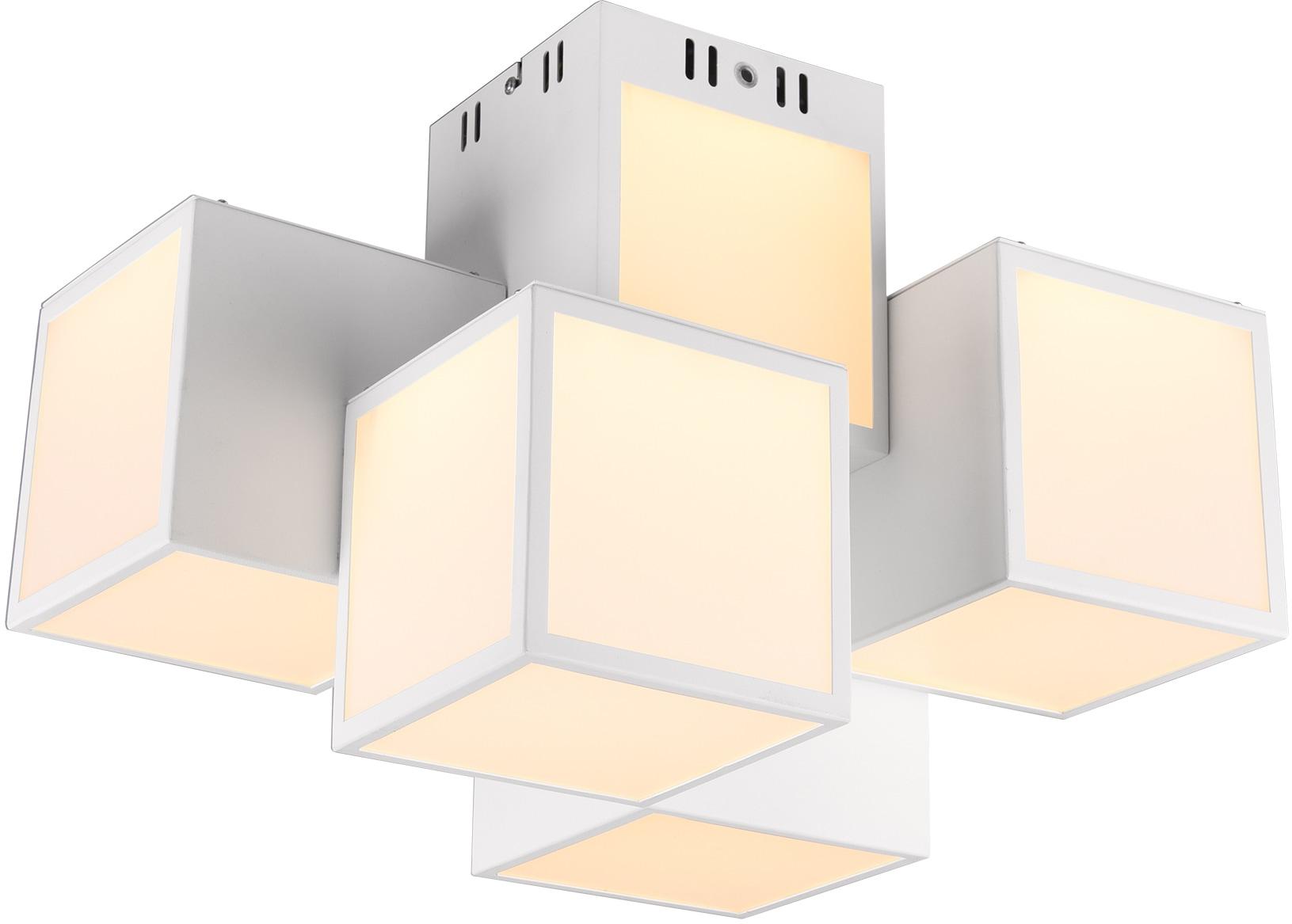 TRIO Leuchten LED Deckenleuchte Oscar, LED-Modul, Farbwechsler