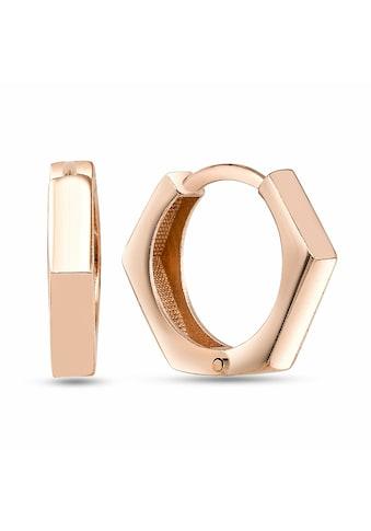 dKeniz Creolen »925/ -  Sterling Silber rosévergoldet Postmodern Ohr« kaufen