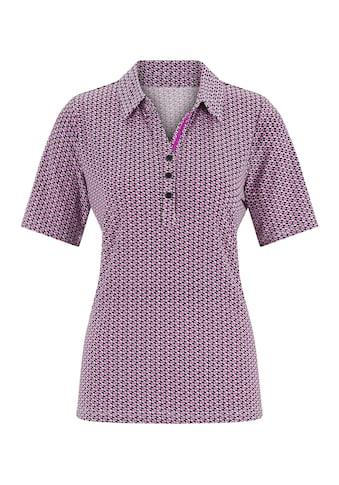 Classic Poloshirt im angesagten Minimal - Druck allover kaufen