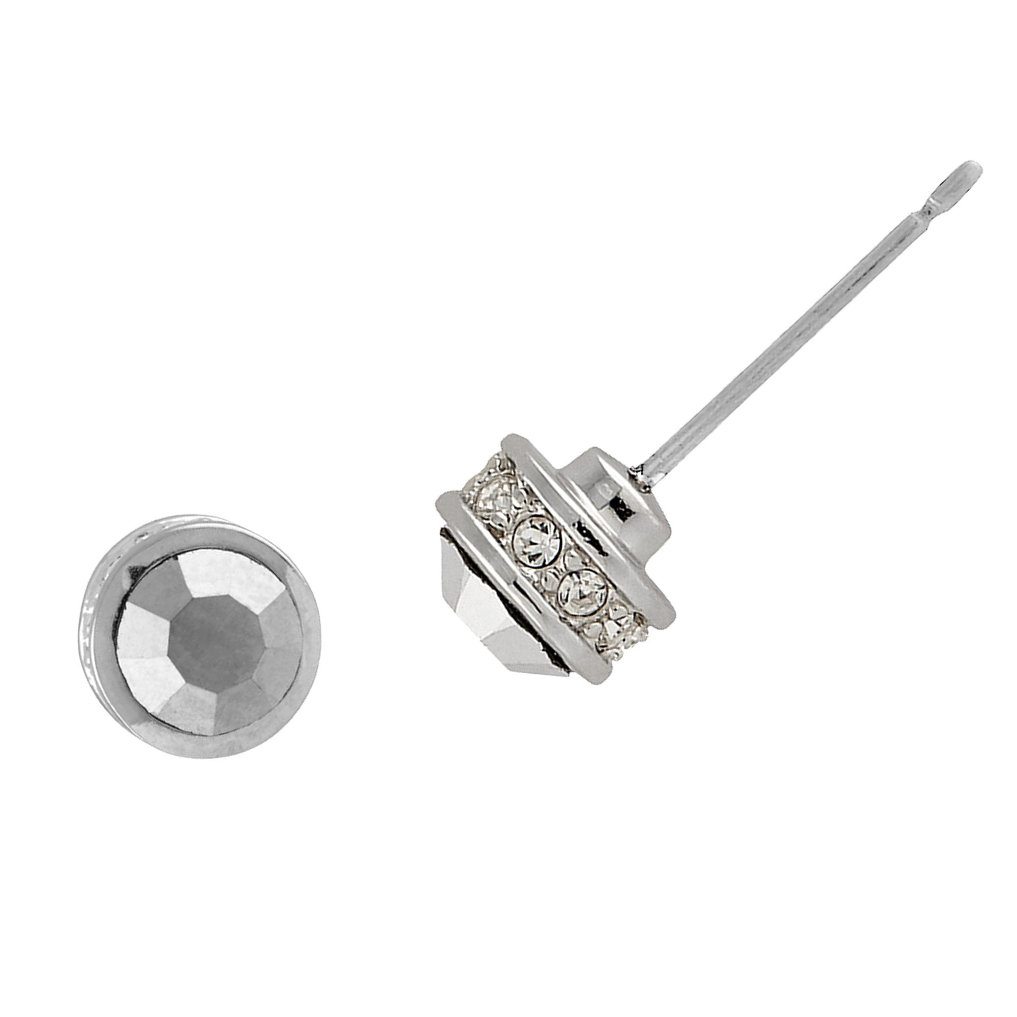 Buckley London Ohrstecker Messing rhodiniert mit Kristallen | Schmuck > Ohrschmuck & Ohrringe > Ohrstecker | buckley london