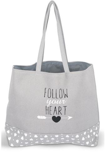 """Franz Müller Flechtwaren Einkaufsshopper """"Follow your Heart"""", 23,4 Liter kaufen"""