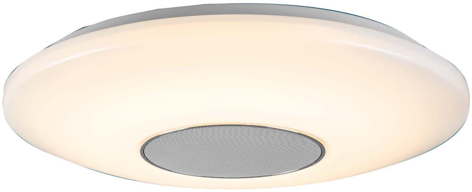 WOFI Deckenleuchte Appollon, LED-Board, 1 St., Bluetooth-Verbindung via Smartphone, Tablet etc. möglich; Musik-Steuerung auch über Fernbedienung möglich; Helligkeitseinstellung möglich