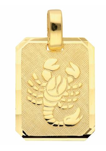 Adelia´s Kettenanhänger »333 Gold Sternzeichen Anhänger Skorpion«, Goldschmuck für... kaufen