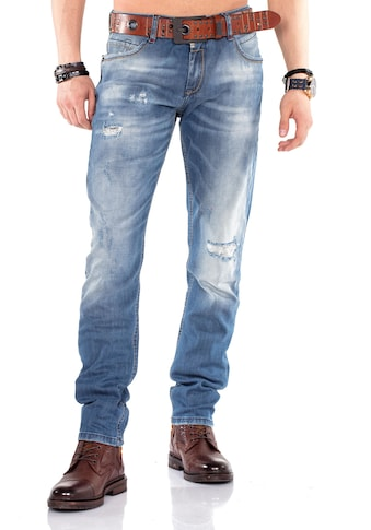Cipo & Baxx Bequeme Jeans, im Regular Fit-Schnitt mit coolem Gürtel kaufen
