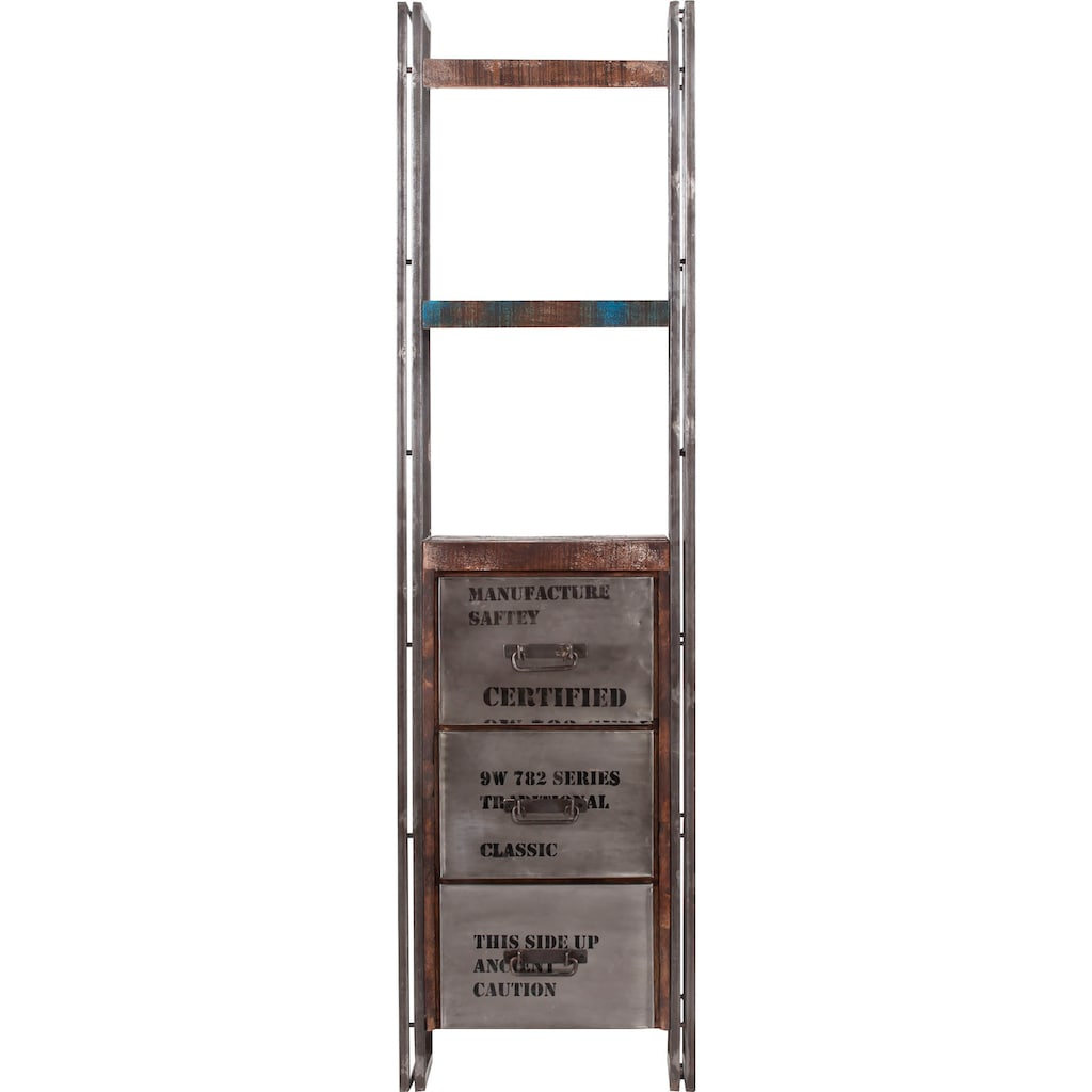 Gutmann Factory Regal »Titan«, moderne Kombination aus Metall und Massivholz