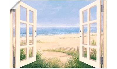 Artland Wandbild »Fensterblick Frühlingsmorgen«, Fensterblick, (1 St.), in vielen Größen & Produktarten - Alubild / Outdoorbild für den Außenbereich, Leinwandbild, Poster, Wandaufkleber / Wandtattoo auch für Badezimmer geeignet kaufen