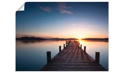 Artland Wandbild »Sonnenstrahlen - Sonnenuntergang«, Gewässer, (1 St.), in vielen... kaufen