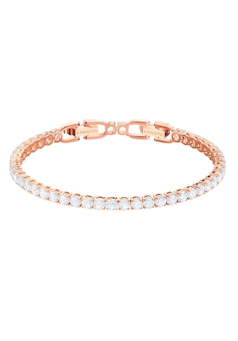 Swarovski Armband »Tennis, weiss, rosé Vergoldung, 5464948« kaufen