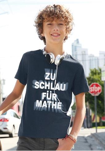 KIDSWORLD T-Shirt »ZU SCHLAU FÜR MATHE« kaufen