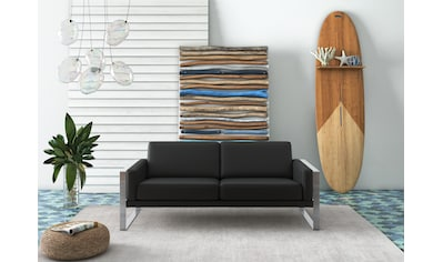 machalke® 2,5-Sitzer »frame«, Ledersofa mit Kufe silberfarben kaufen