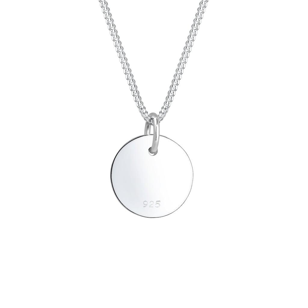Elli Collierkettchen »Sternzeichen Stier Astro Symbol Matt 925 Silber«