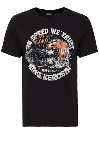 """KingKerosin T-Shirt »In Speed we trust«, mit Front Print """"In Speed we trust"""" kaufen"""