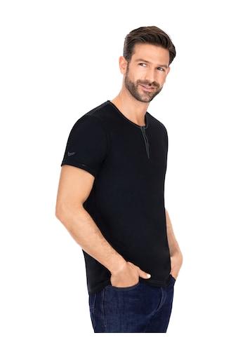 Trigema T - Shirt Knopfleiste aus Biobaumwolle kaufen