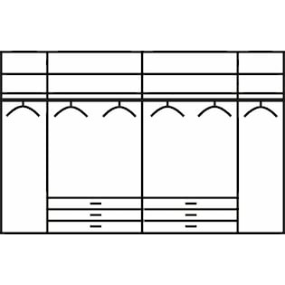 Wiemann Panorama Faltturenkleiderschrank Kansas Mit Spiegel Und