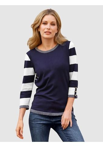 Laura Kent 3/4 Arm-Pullover, mit Zierknopfleiste kaufen