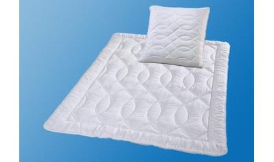 Kunstfaserbettdecke + Kopfkissen, »Mikro - Seersucker«, KBT Bettwaren, (Spar - Set) kaufen
