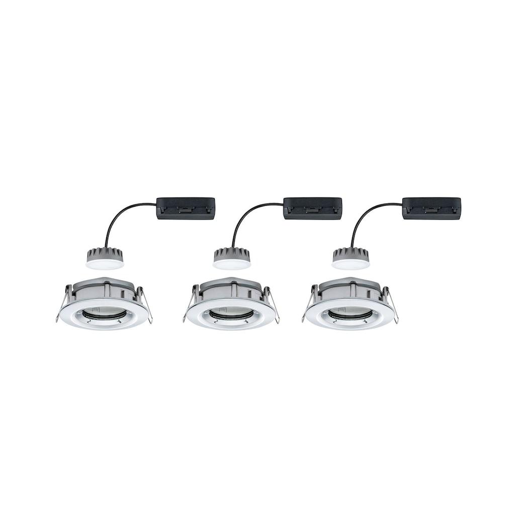 Paulmann LED Einbaustrahler »Nova Plus rund 3x6,8W Chrom schwenkbar dimmbar«, 3 St., Warmweiß