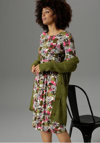 Aniston SELECTED Jerseykleid, mit knallfarbenen Details im Druck - NEUE KOLLEKTION kaufen