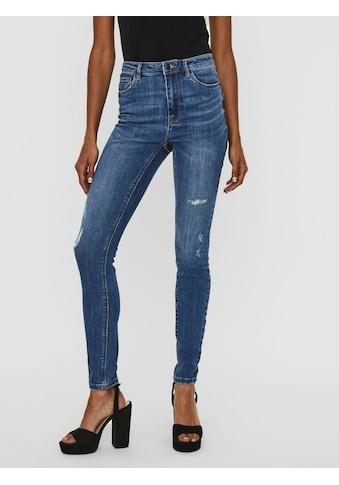 Vero Moda High-waist-Jeans »VMSOPHIA«, mit kleinen Destroyed Effekten kaufen