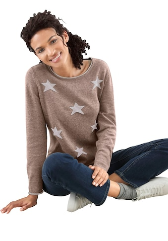 Casual Looks Pullover mit Sternen - Muster kaufen