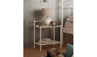 Home affaire Nachttisch »Birgit«, aus einem schönen Metallgestell, in zwei verschiedenen Farbvarianten, Höhe 58 cm kaufen