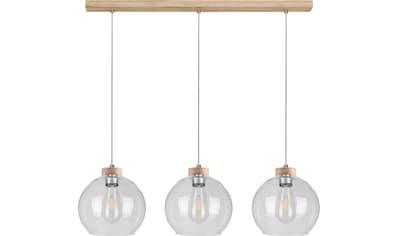 BRITOP LIGHTING Pendelleuchte »LAGUNA«, E27, 1 St., Naturprodukt aus Eichenholz,... kaufen