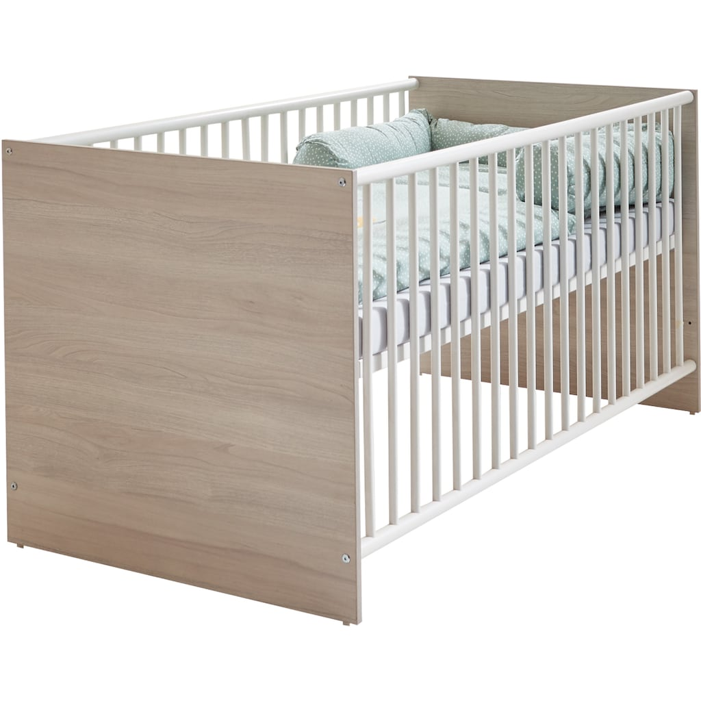 arthur berndt Babyzimmer-Komplettset »Jonas«, (Set, 3 St.), Made in Germany; mit Kinderbett, Schrank und Wickelkommode