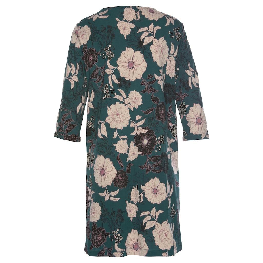 s.Oliver Bodywear Nachthemd, im Blumenmuster mit 3/4-Ärmeln