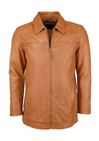 JCC Lederjacke »Saros«, Elegante Longjacke mit Hemdkragen kaufen