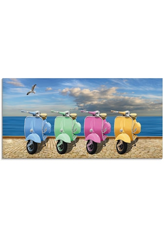 Artland Glasbild »Vespa-Roller in bunten Farben«, Motorräder & Roller, (1 St.) kaufen