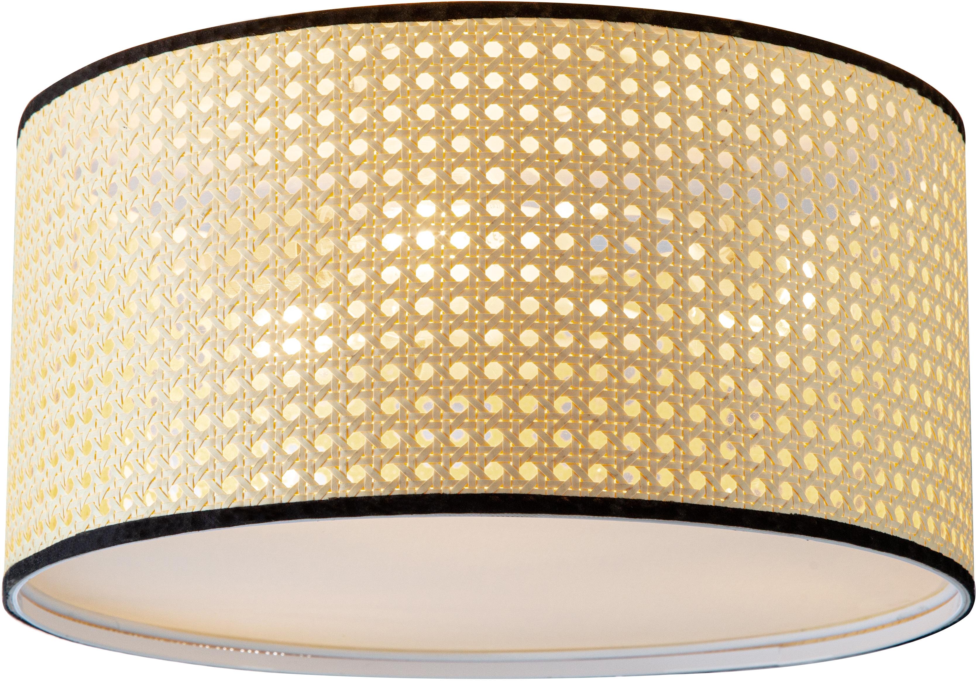Nino Leuchten Deckenleuchte LU, E27, 1 St., Deckenlampe, Wiener Geflecht