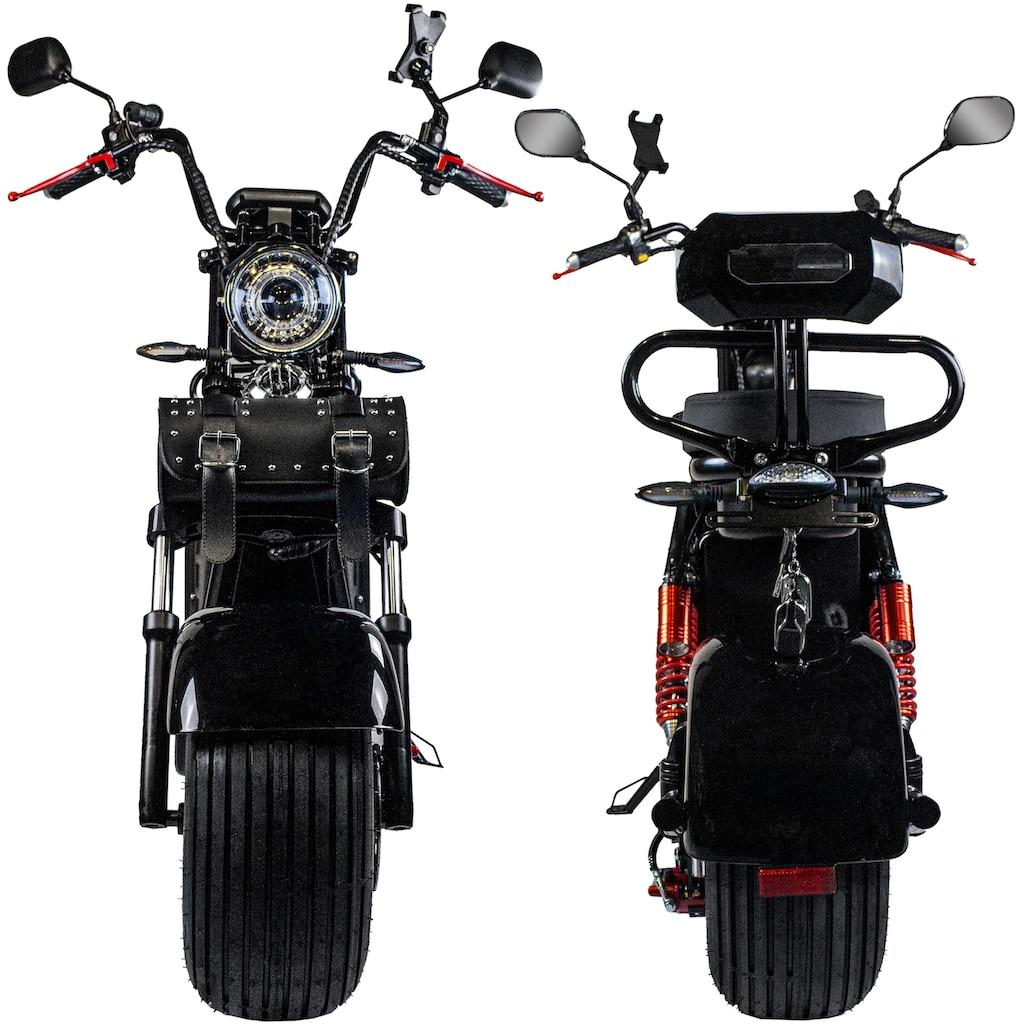 Rolektro E-Motorroller »E-Cruiser 45 Lithium, Schwarz, 60V-20Ah Akku, 1500 Watt«