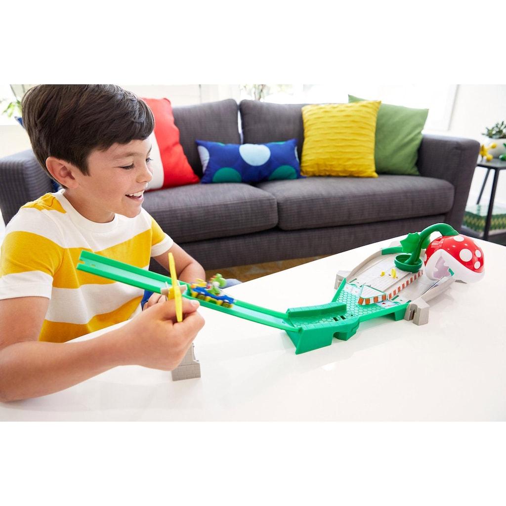 Hot Wheels Spiel-Gebäude »Mario Kart Piranha-Pflanzen-Trackset«, inkl. 1 Spielzeugauto