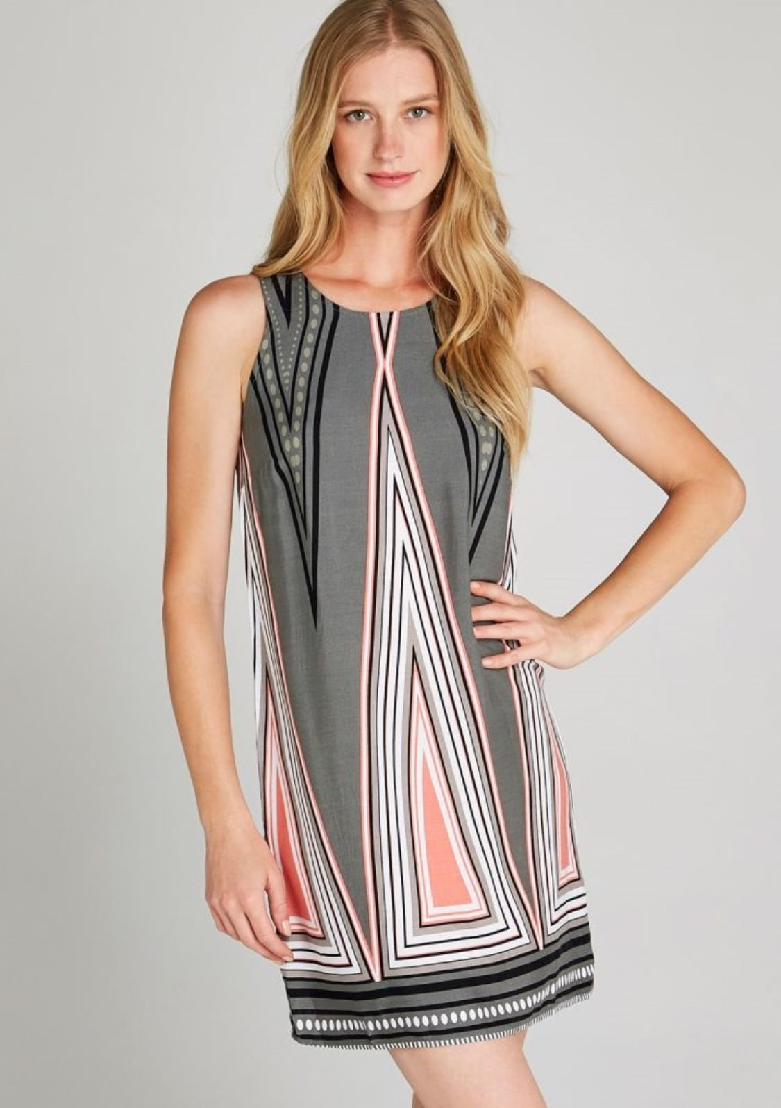 apricot -  Etuikleid Aztec Triangle Shift Dress