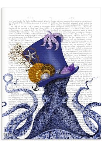 Artland Glasbild »Oktopus mit Hut«, Wassertiere, (1 St.) kaufen