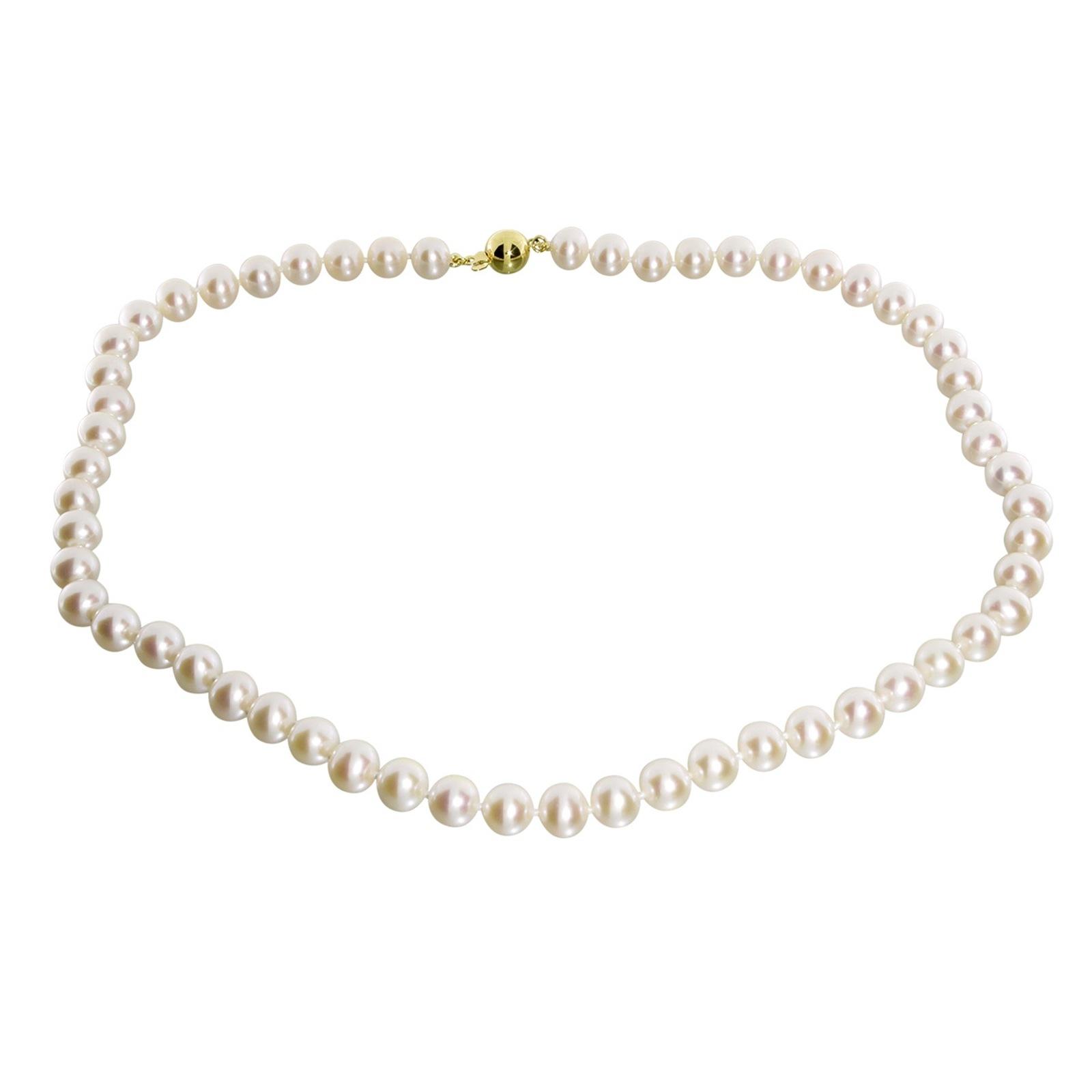 OSTSEE-SCHMUCK Perlenkette Ingrid 7 - Gold 585 Gold 585/000 Süßwasserzuchtperle | Schmuck > Halsketten > Perlenketten | Ostsee-Schmuck