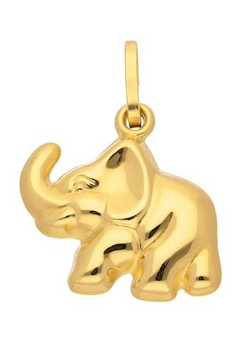 Adelia´s Kettenanhänger »333 Gold Anhänger Elefant«, Goldschmuck für Damen kaufen
