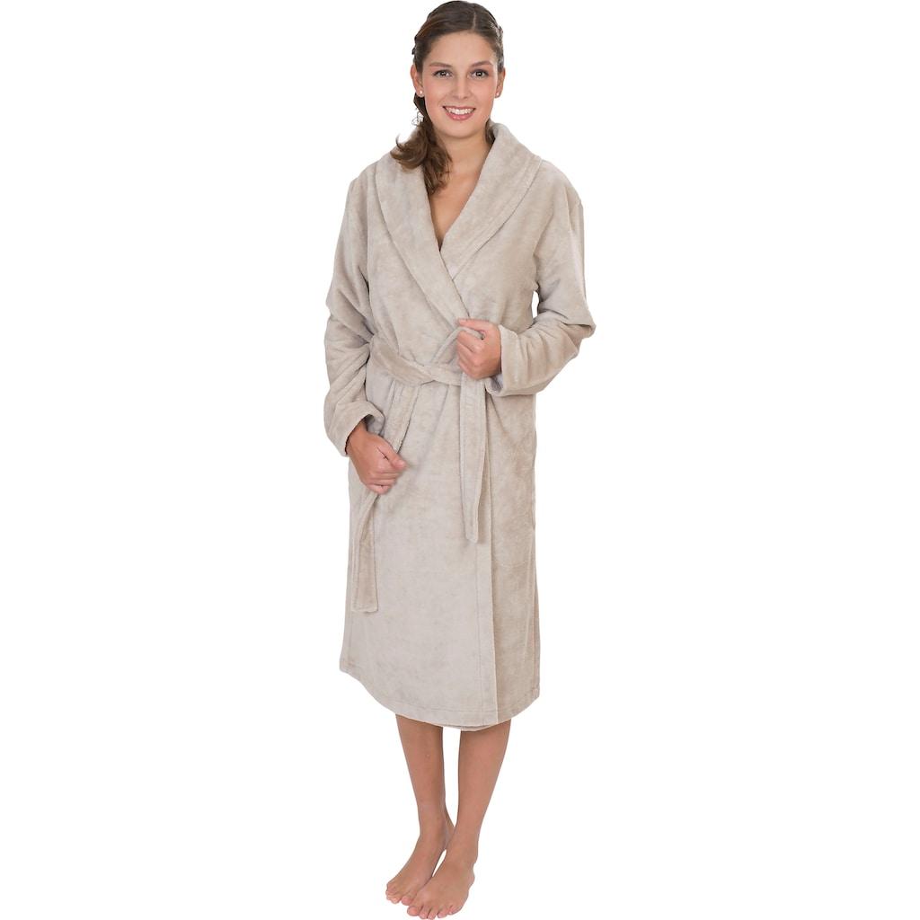 Wewo fashion Damenbademantel »4021«, (1 St., mit Gürtel), mit Soft Touch