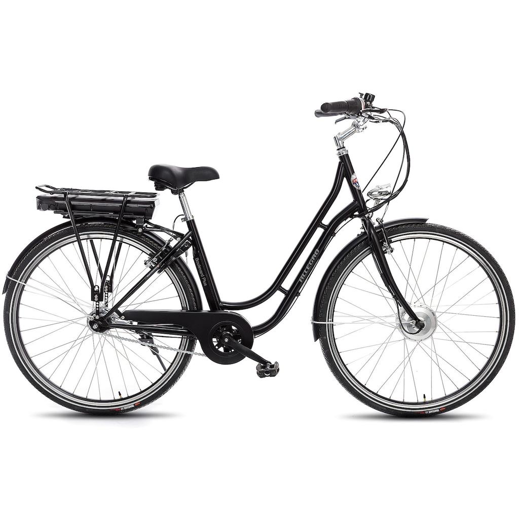 ALLEGRO E-Bike »Boulevard Plus 03 Black«, 7 Gang, Shimano, Nexus, Frontmotor 250 W