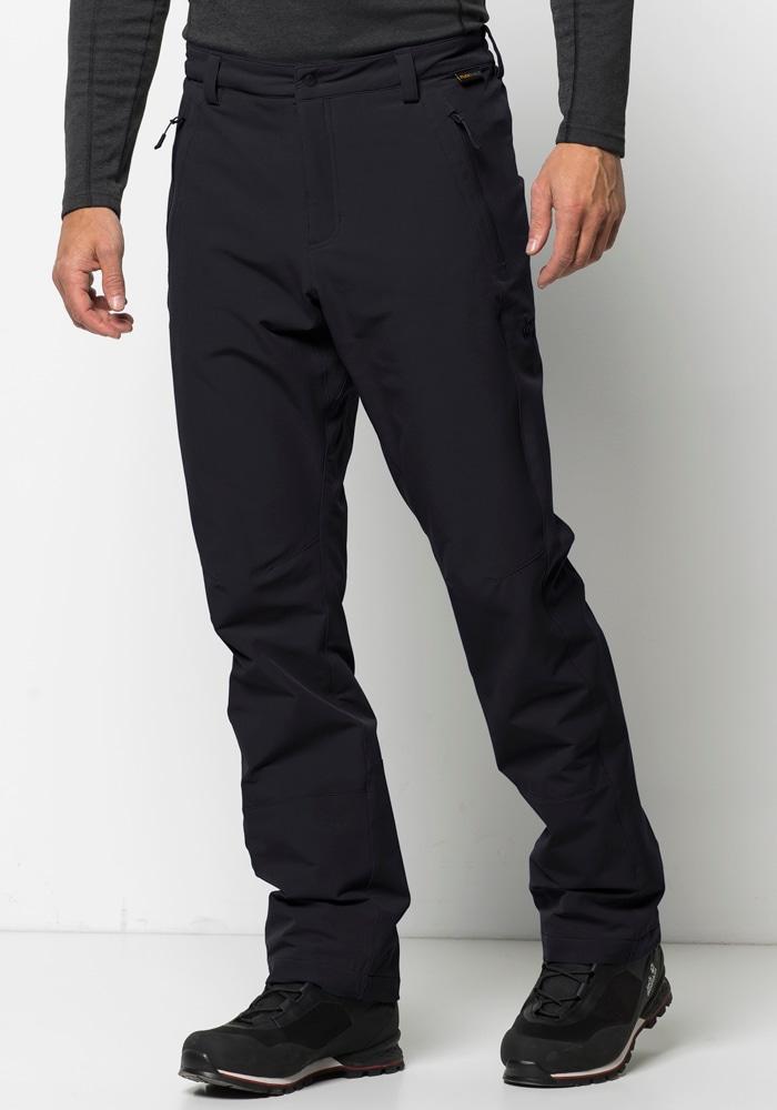 Jack Wolfskin Softshellhose ACTIVATE WINTER PANTS MEN | Sportbekleidung > Sporthosen > Softshellhosen | Schwarz | Jack Wolfskin