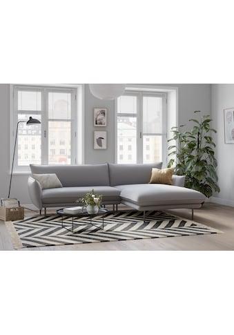 andas Ecksofa »Stine«, Besonderes Design durch Kissenoptik und Keder, Design by Morten... kaufen