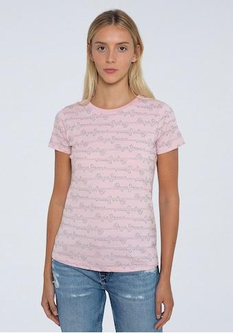 Pepe Jeans Kurzarmshirt »CECILE«, mit Marken-Logo-Print im Streifen-Design kaufen