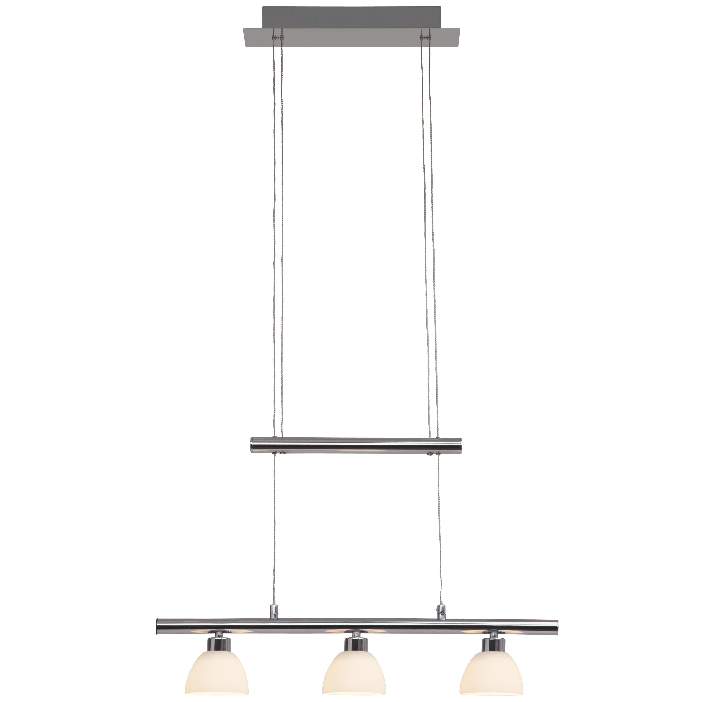 Brilliant Leuchten Tonja LED Pendelleuchte 3flg chrom/weiß