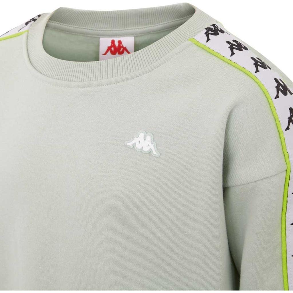 Kappa Sweatshirt »AUTHENTIC HANKA KIDS«, mit paspeliertem Logo-Webband<br />