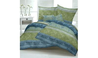 TRAUMSCHLAF Bettwäsche »Indi grün«, weiche Feinbiber Qualität kaufen