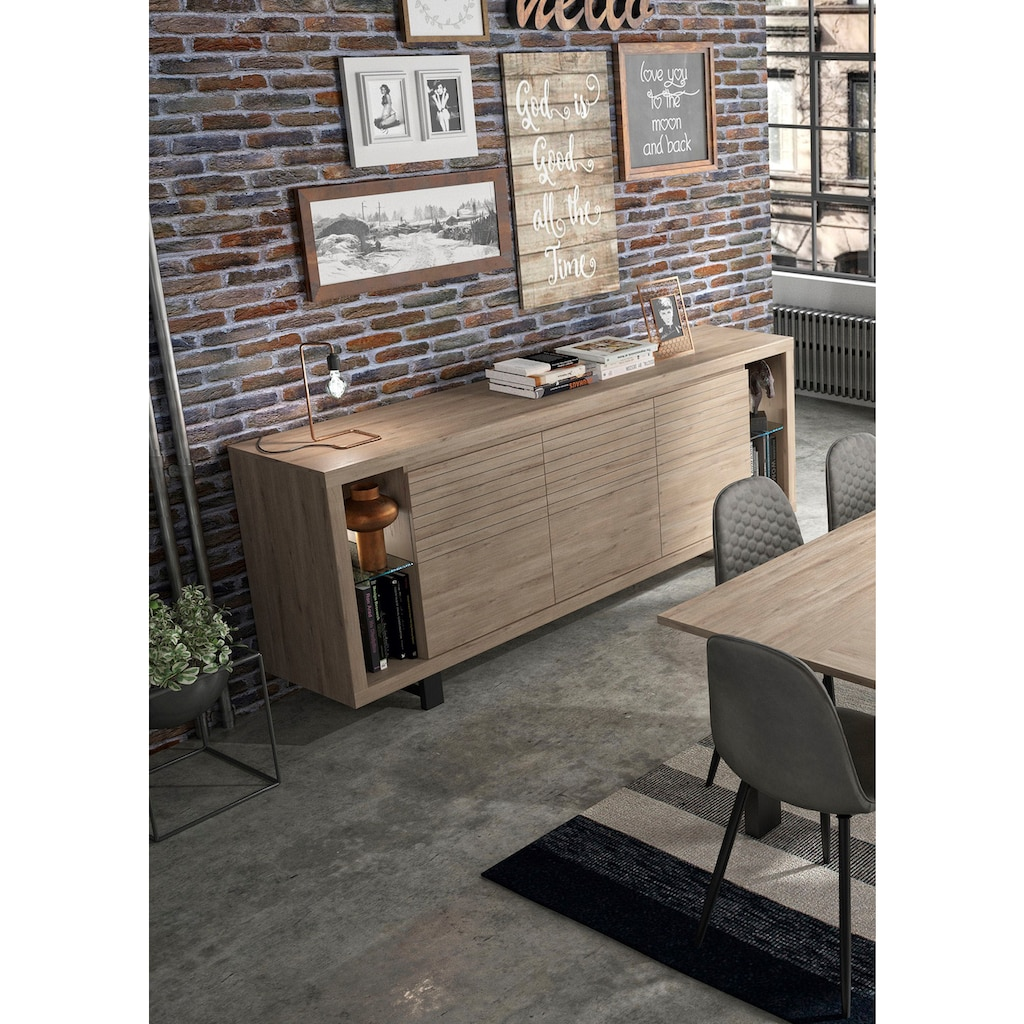 Gami Anrichte »Clay«, mit dekorativen 3D-Elementen