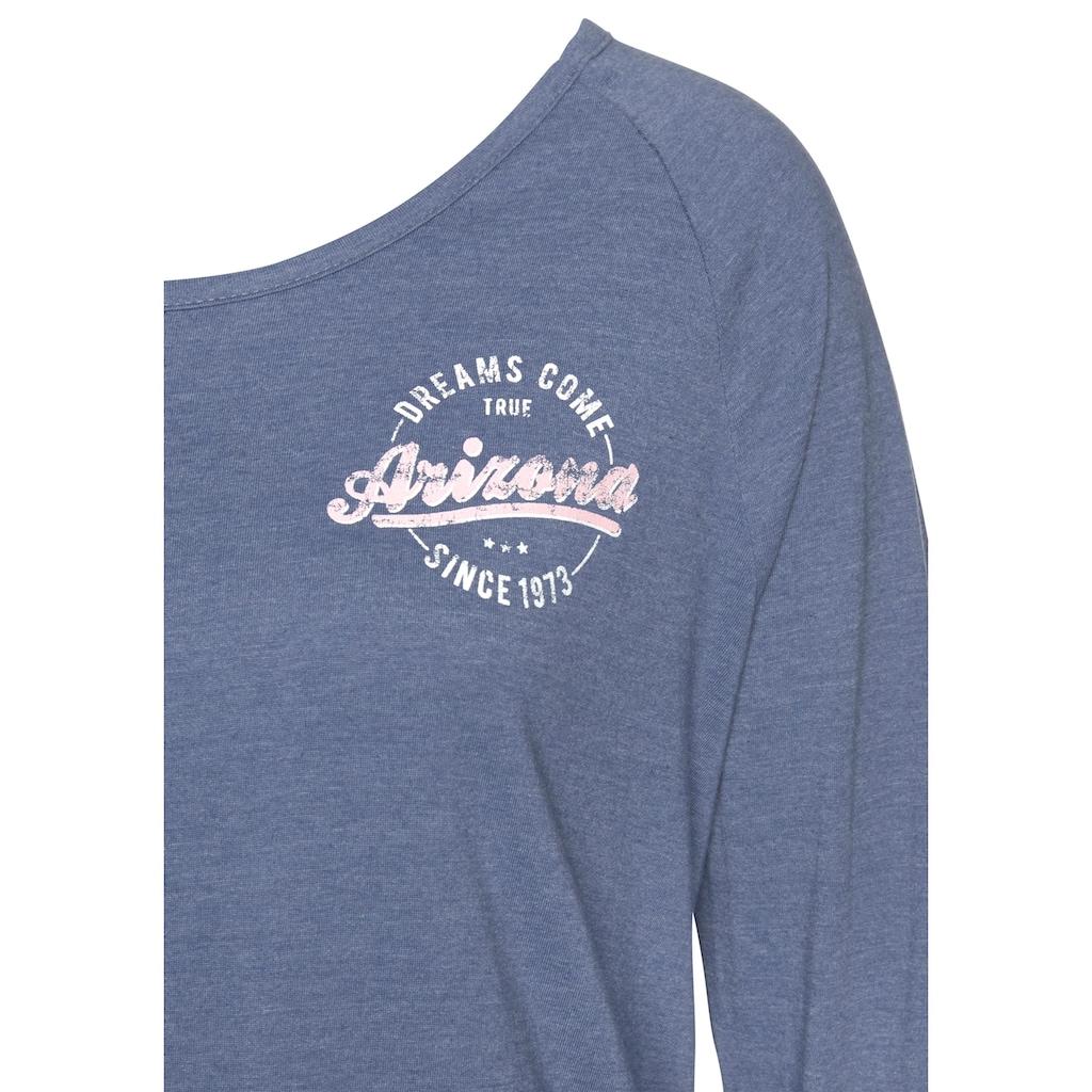 Arizona Nachthemd, im College-Look mit Folienprint